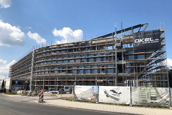 Bau des Fraunhofer Instituts für Energiewirtschaft und Energiesystemtechnik (IEE)