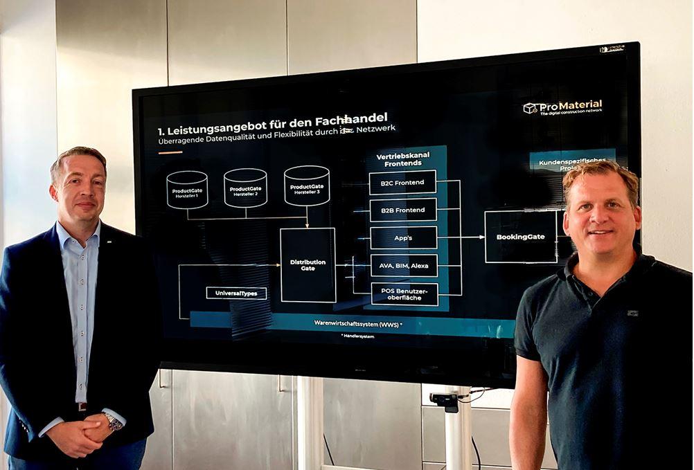 Marc Thiel (ProMaterial) und Oliver Hofmann (Wego) freuen sich auf eine gute Zusammenarbeit.